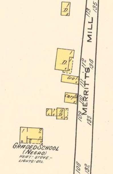 Excerpt from the December 1915 Sanborn map of Chapel Hill