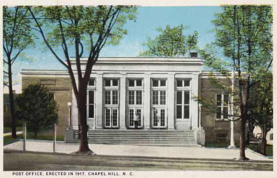 Chapel Hill Post Office 1920s