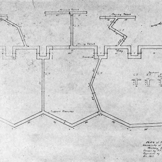 Trench map 1918