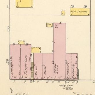 Pickwick Theatre, 1915 (Sanborn map excerpt)